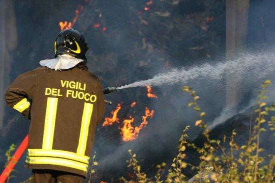 Incendio devasta bosco a tra Bagnoli e Civitanova