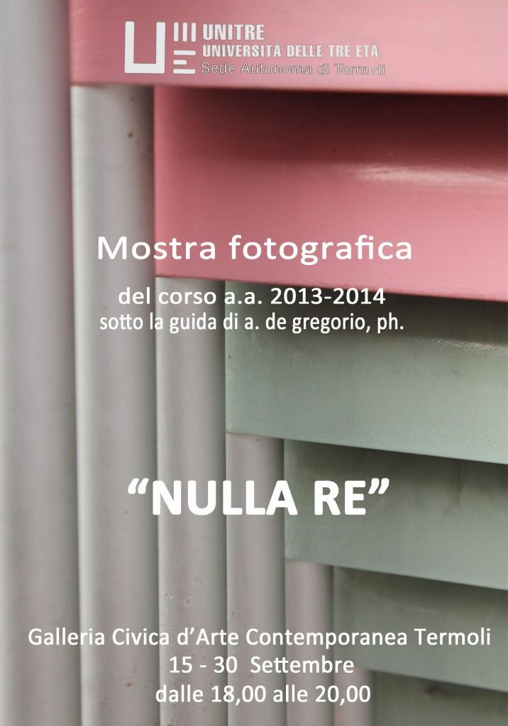 Nulla re, domani l'apertura della mostra fotografica