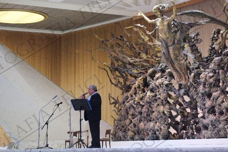 Don Elio Benedetto si è esibito davanti a Papa Francesco