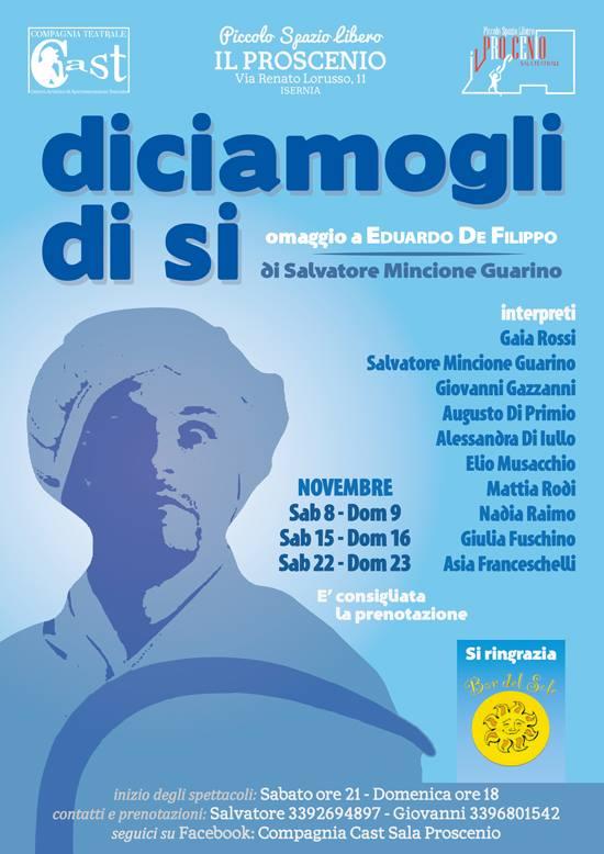 Cast, sabato ad Isernia l'omaggio a De Filippo