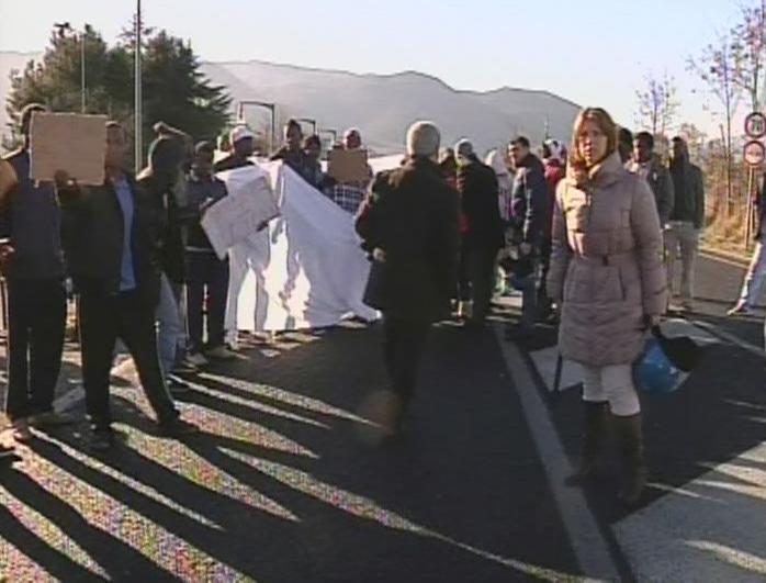 Proteste dei migranti, CasaPound polemica