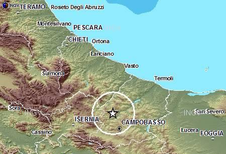 Terremoto a Sant'Angelo Limosano, l'Ingv rettifica: la magnitudo è di 4.2