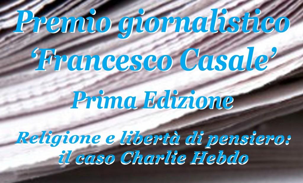 Premio Francesco Casale, domani la presentazione