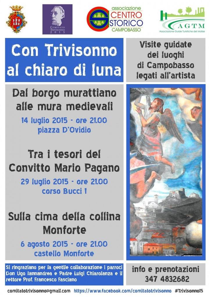 Trivisonno al chiaro di luna, giovedì sul Castello Monforte