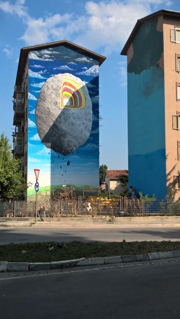 Via Marche, 'cantiere' a cielo aperto grazie al Draw the line