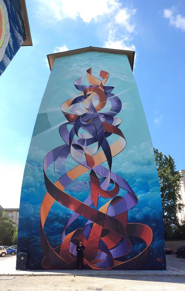 Street art le telecamere di sky puntate su via marche teleregione molise - Sculptures metalliques murales ...