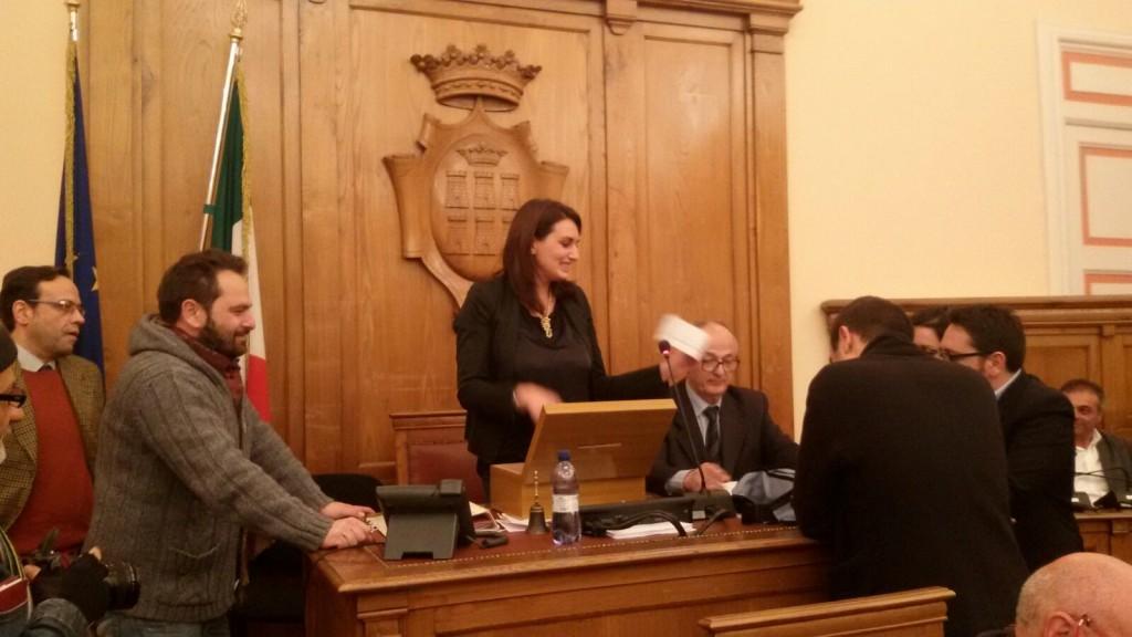 Palazzo San Giorgio, Durante nuovo presidente dell'assise