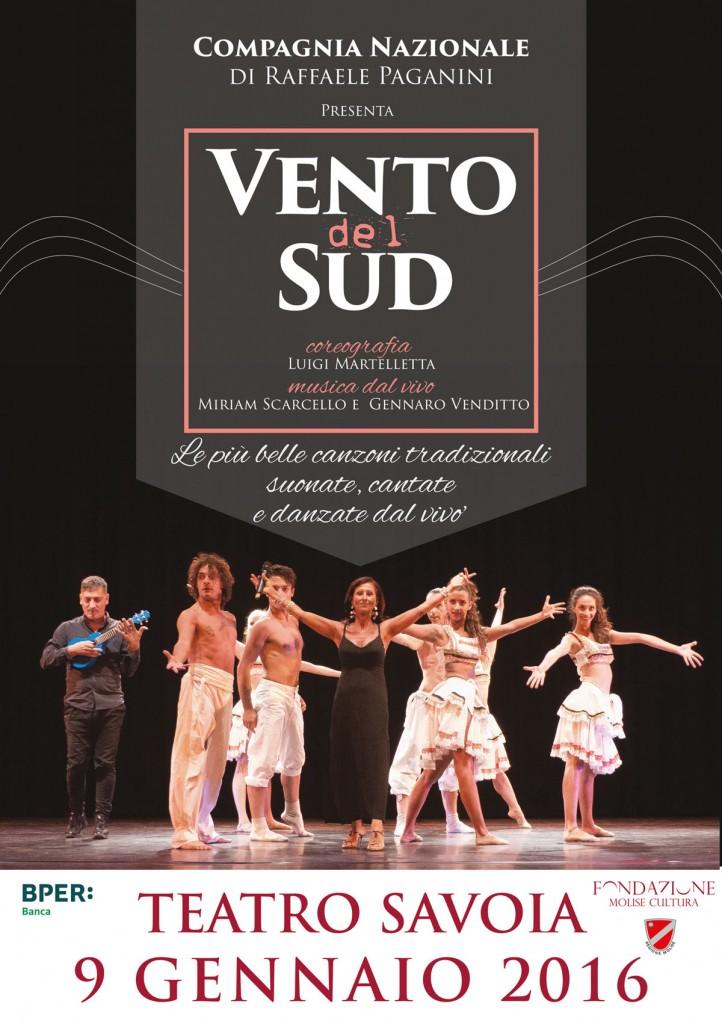 'Vento del sud', sabato sera lo spettacolo della compagnia nazionale di Raffaele Paganini