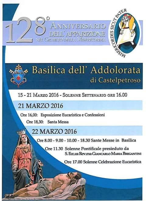 Castelpetroso, al via le celebrazioni per l'anniversario dell'apparizione