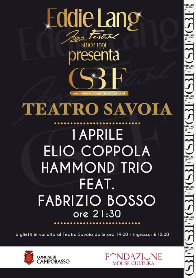 Jazz in vetrina venerdì al Savoia