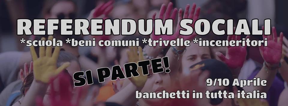 Referendum sociali, venerdì la presentazione