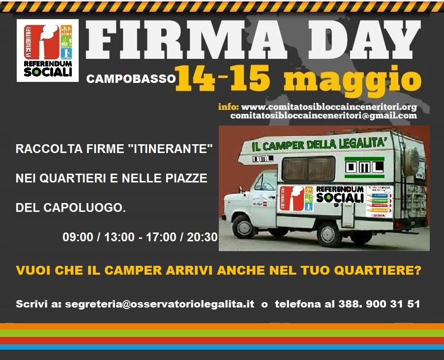 Parte il 'Firma day', mille banchetti in tutta Italia
