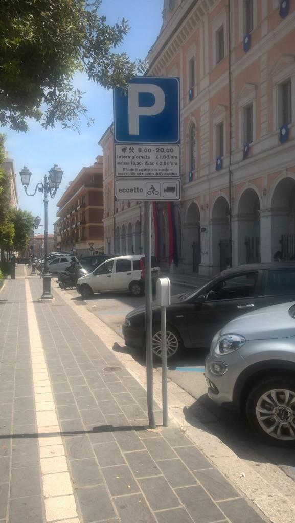 Campobasso, raddoppia il ticket dei parcheggi in sei strade del centro