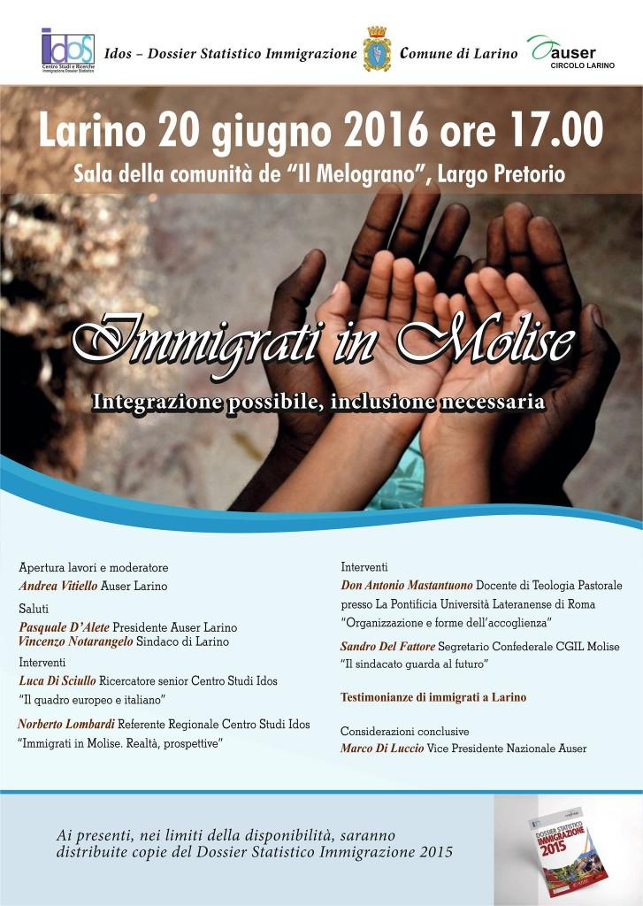 Immigrazione, integrazione ed inclusione, Larino si confronta