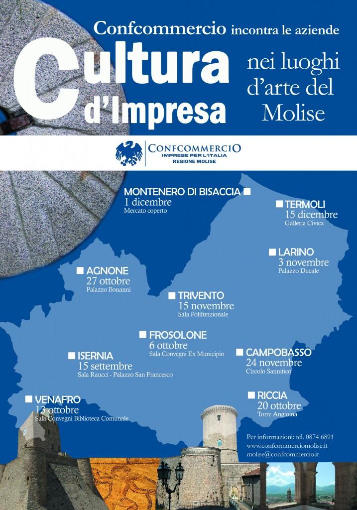 """Cultura d'impresa, Confcommercio in """"tour"""" nei maggiori centri del Molise"""