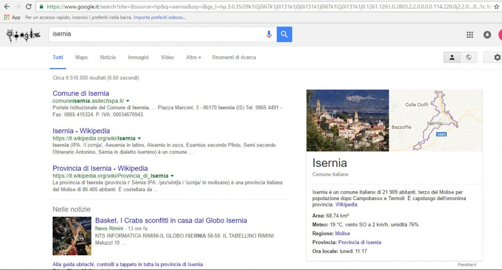 La foto non è di Isernia, Google cambia volto al capoluogo pentro