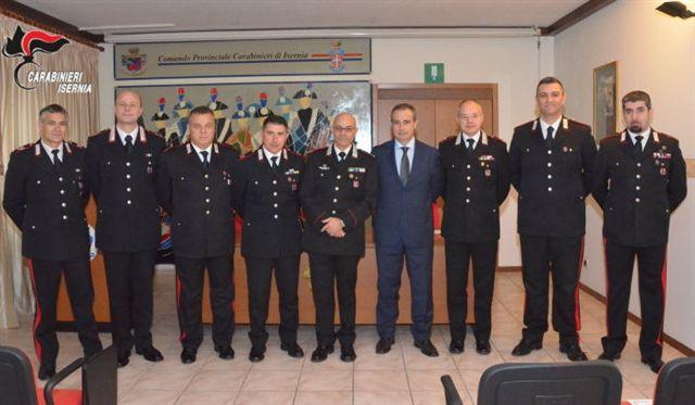 Carabinieri, sette onorificenze consegnate