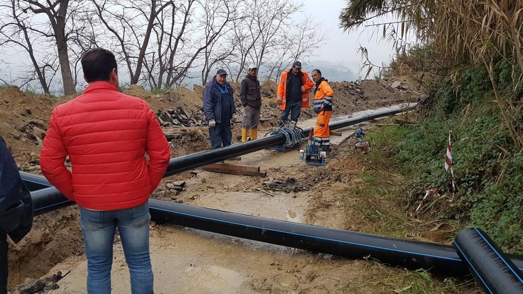 Frana lungo la Provinciale Frentana, a Montenero conclusi i lavori per ripristinare la conduttura idrica