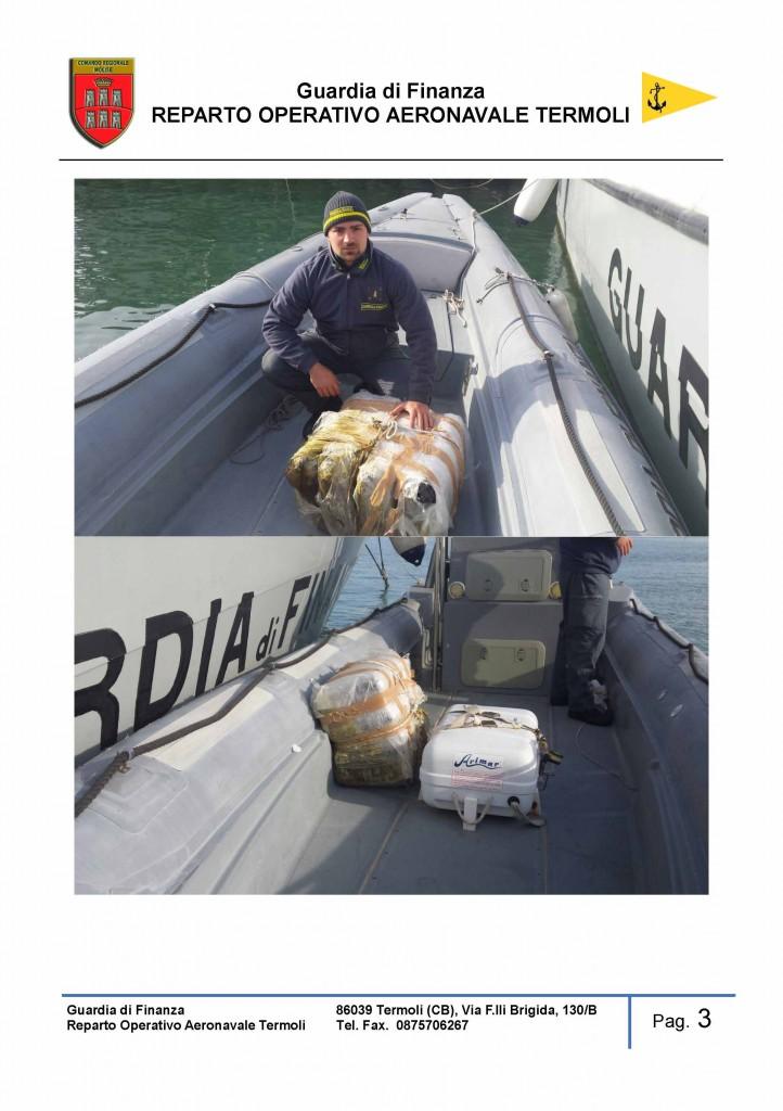 50 kg di marijuana sequestrati al largo della costa molisana