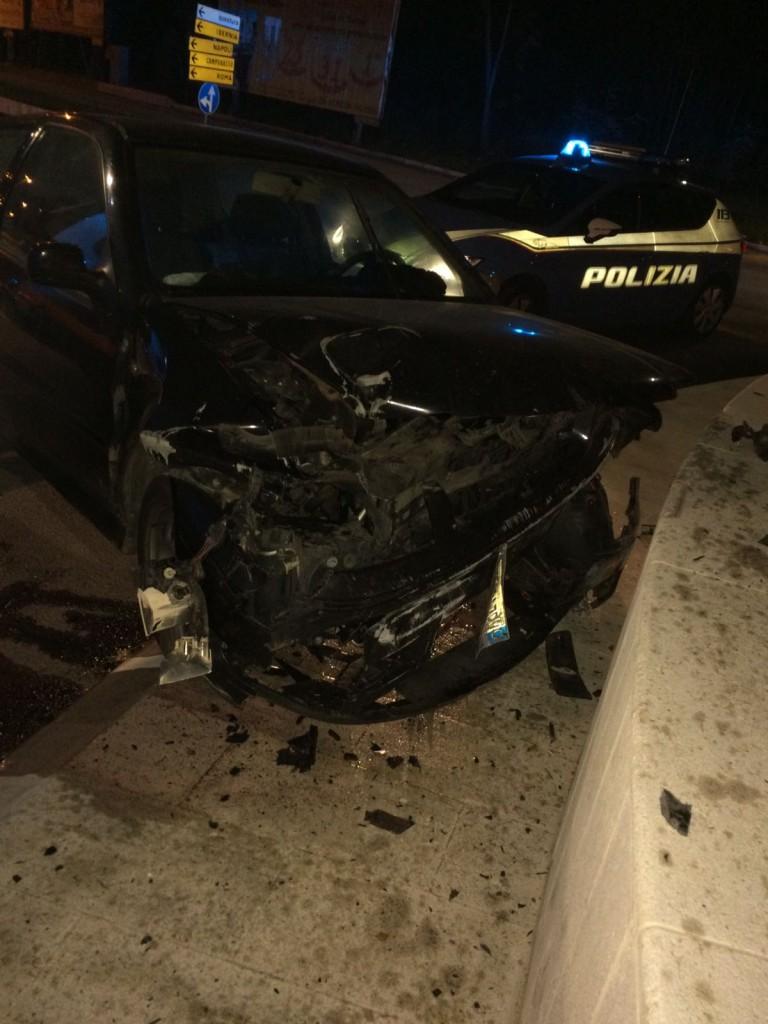 Incidente ad Isernia nord, l'auto era stata rubata