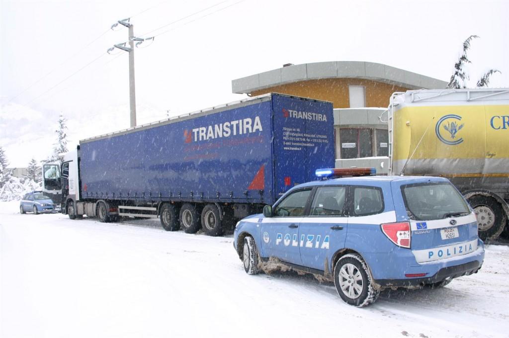 Emergenza neve, anche domani circolazione vietata ai mezzi pesanti in provincia di Isernia