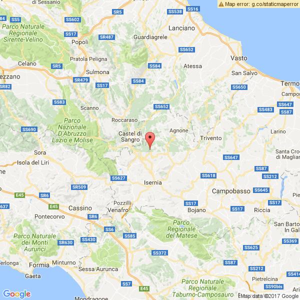 Trema la terra in provincia di Isernia, sei scosse con epicentro Roccasicura