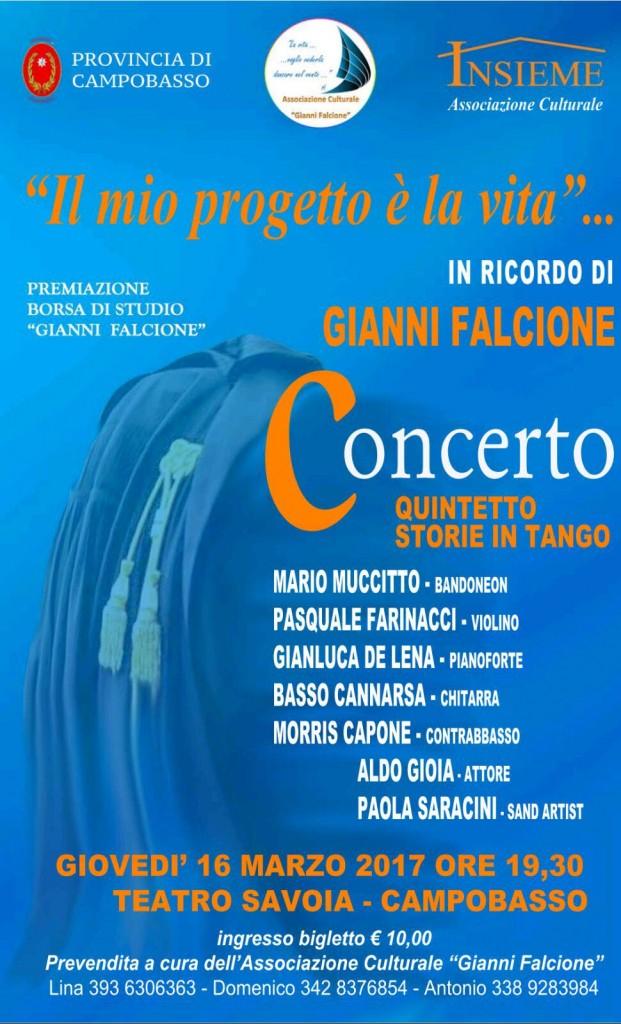 """""""Il mio progetto è la vita"""", al Savoia il concerto per ricordare Gianni Falcione"""