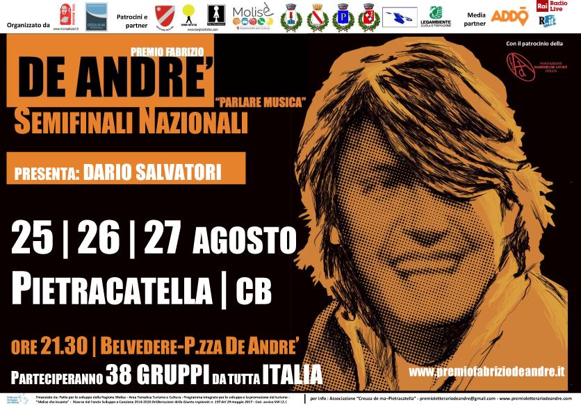 Premio Fabrizio de André, a Pietracatella le semifinali nazionali