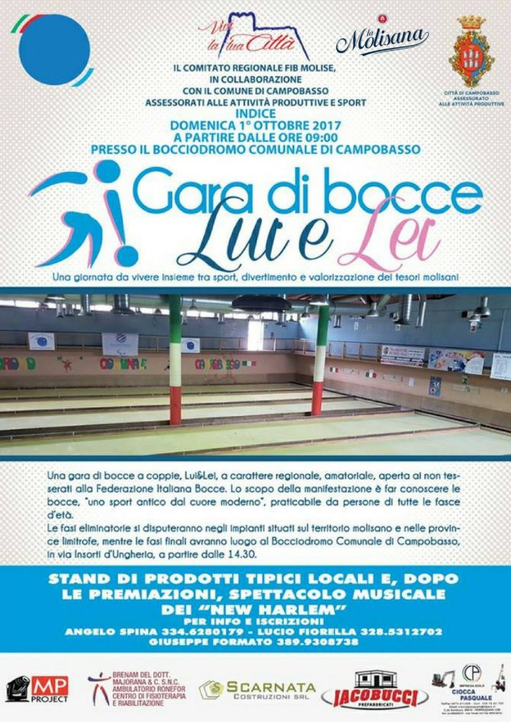 Un torneo di bocce a Campobasso dedicato alle coppie, domenica l'ultimo evento di Vivi la tua città