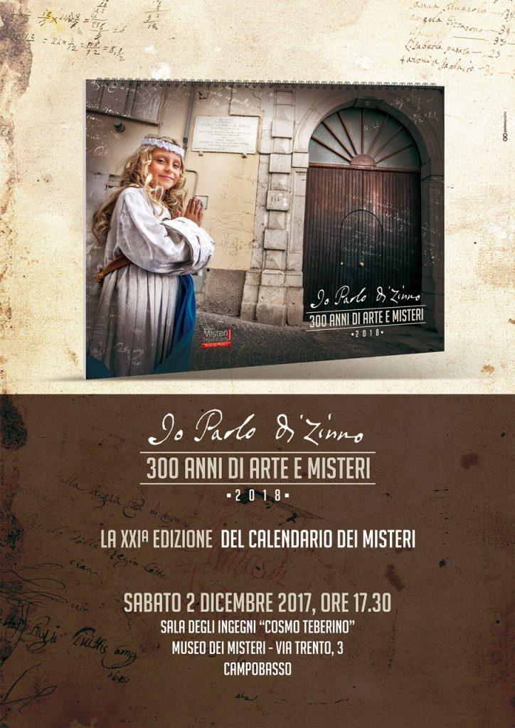 XXI edizione del Calendario dei Misteri, sabato la presentazione nella sala degli ingegni