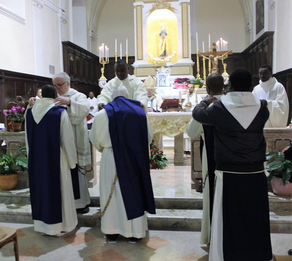 Tre nuovi frati nel santuario della Libera di Cercemaggiore