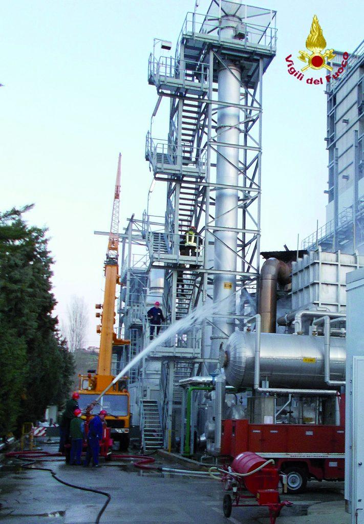 Incendio alla Fis di Termoli, sospesa per ora la produzione