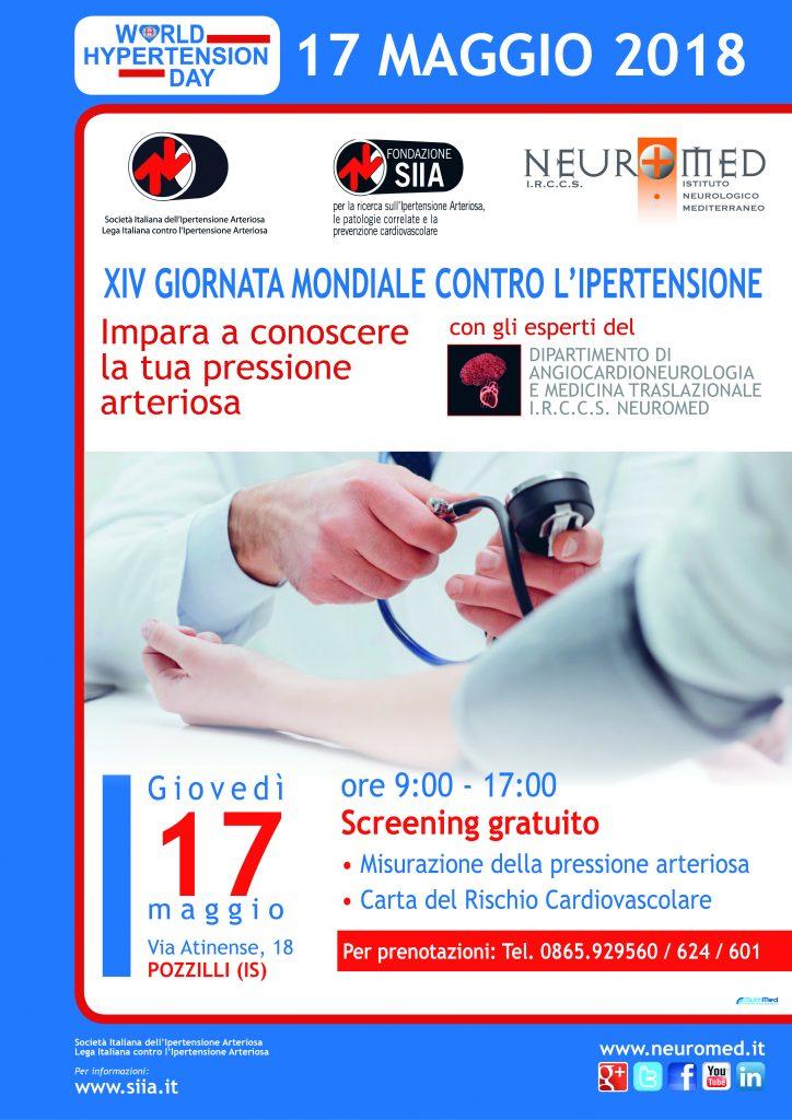 Ipertensione, screening gratuiti al Neuromed di Pozzilli..