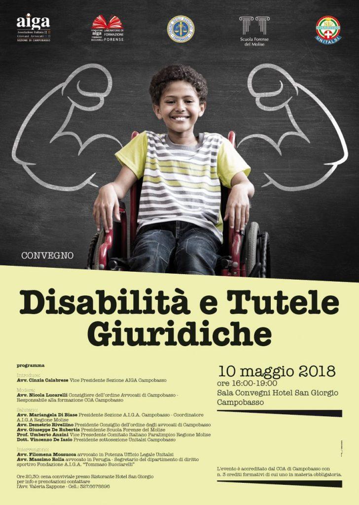"""Campobasso, l'Unitalsi al convegno """"Disabilità e tutele giuridiche"""""""