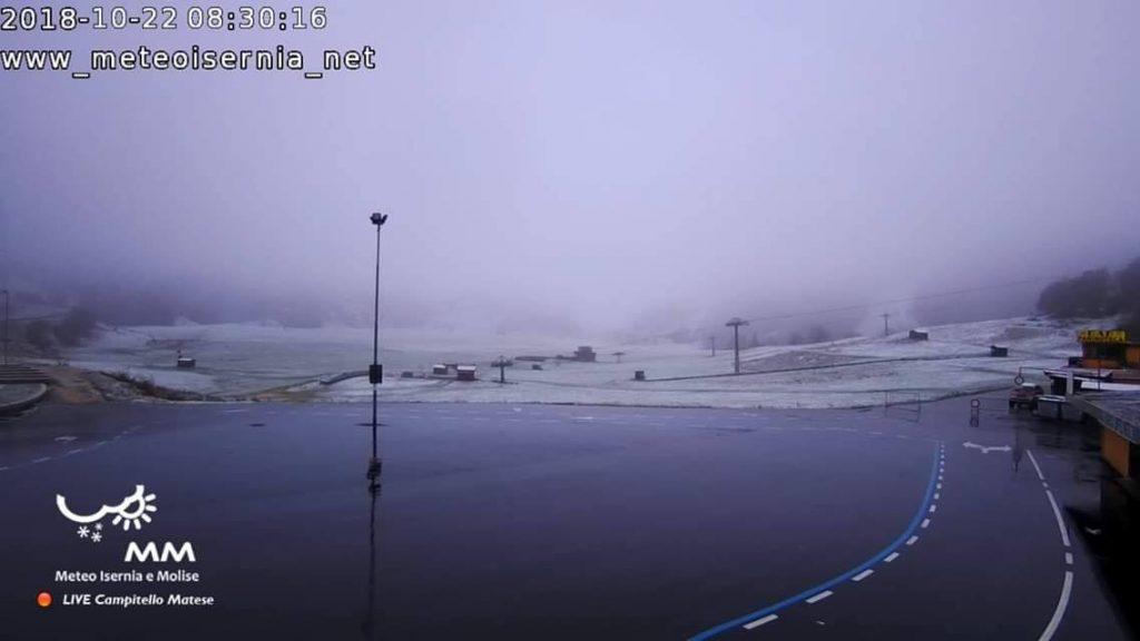 A Campitello Matese è caduta la prima neve, un buon auspicio per gli operatori turistici