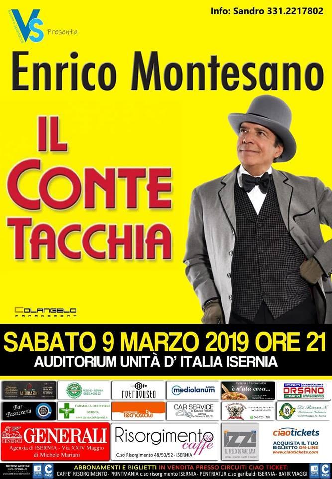 Montesano porta in scena a Isernia 'Il conte Tacchia'