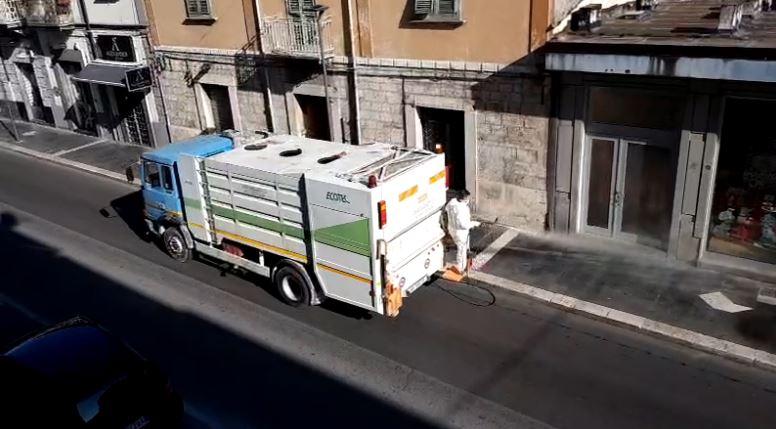 Emergenza sanitaria, partiti gli interventi di sanificazione lungo le strade di Isernia