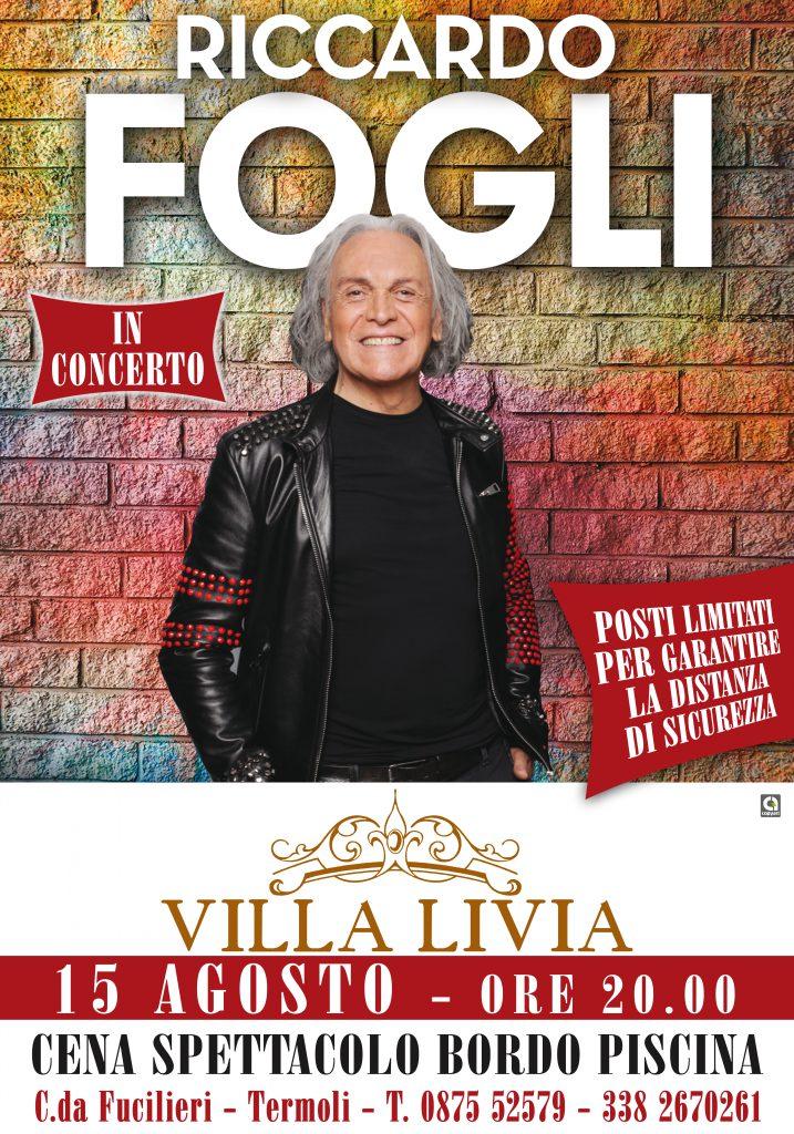 Riccardo Fogli a Villa Livia, concerto a bordo piscina